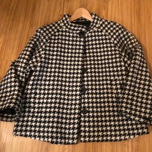 Houndstooth Swing Coat Size M